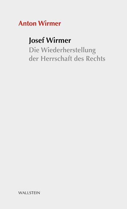 Cover-Bild Josef Wirmer