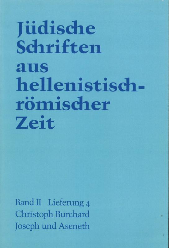 Cover-Bild Joseph und Aseneth