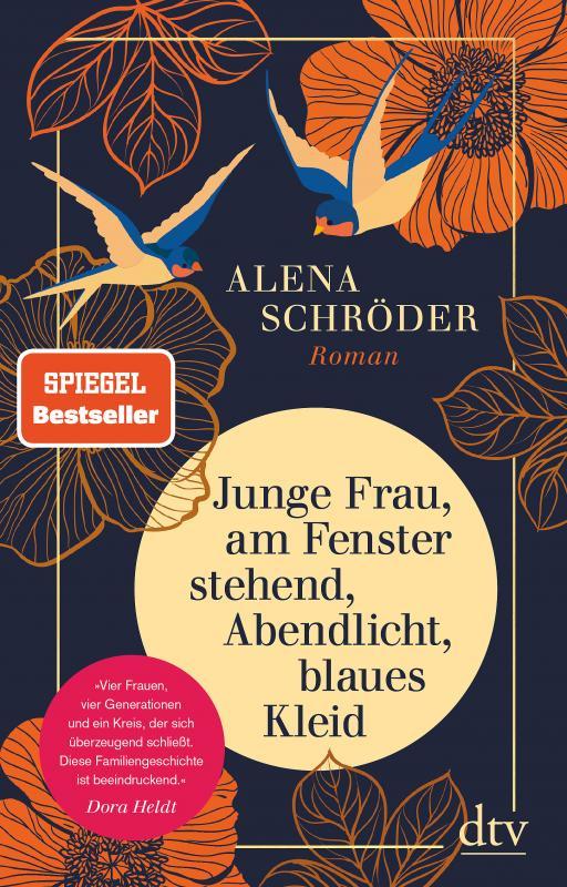 Cover-Bild Junge Frau, am Fenster stehend, Abendlicht, blaues Kleid