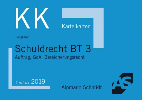 Cover-Bild Karteikarten Schuldrecht BT 3