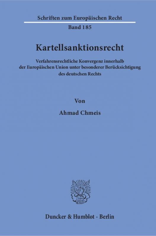 Cover-Bild Kartellsanktionsrecht.
