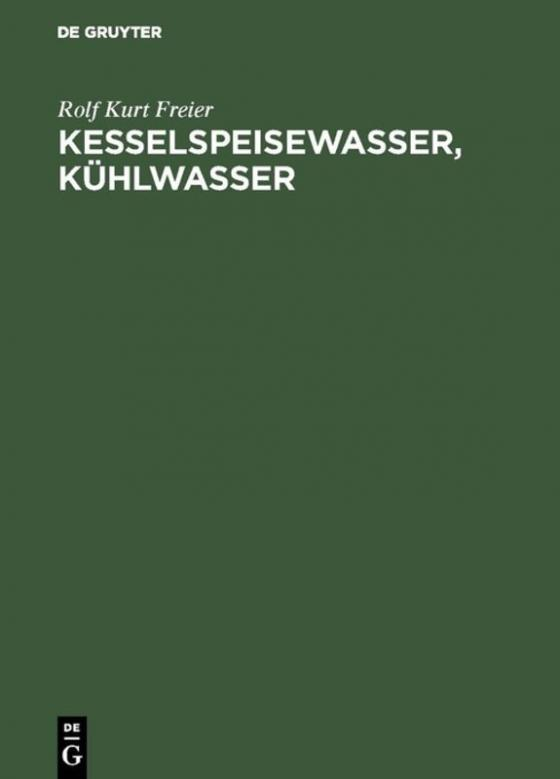 Cover-Bild Kesselspeisewasser, Kühlwasser