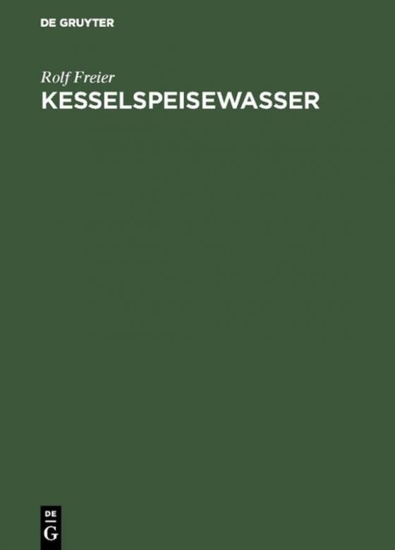 Cover-Bild Kesselspeisewasser