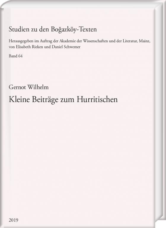 Cover-Bild Kleine Beiträge zum Hurritischen