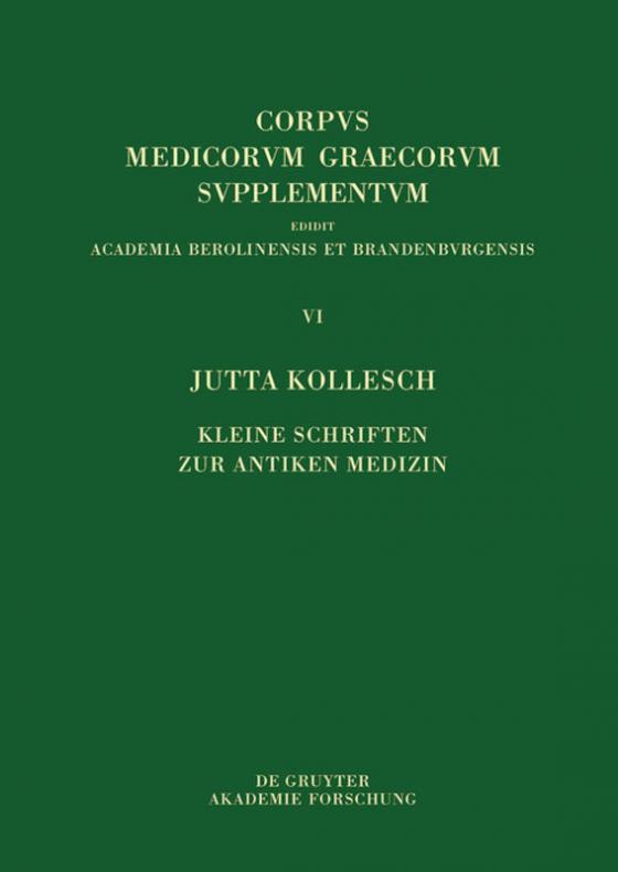 Cover-Bild Kleine Schriften zur antiken Medizin