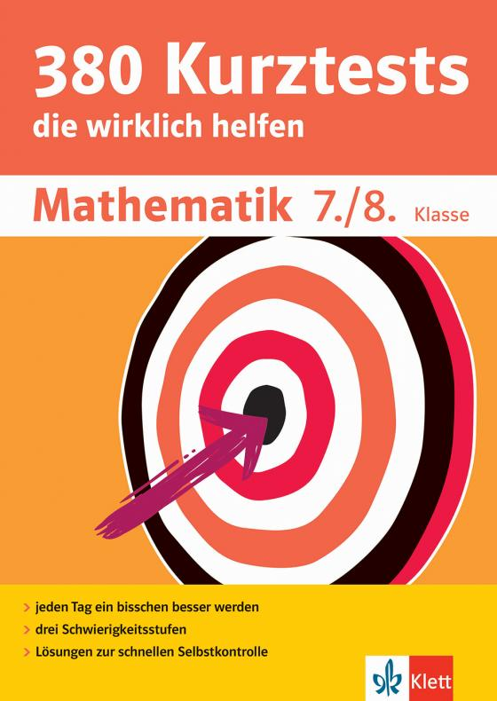 Cover-Bild Klett 380 Kurztests Mathematik 7./8. Klasse