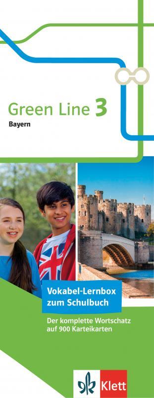 Cover-Bild Klett Green Line 3 Bayern Klasse 7 Vokabel-Lernbox zum Schulbuch