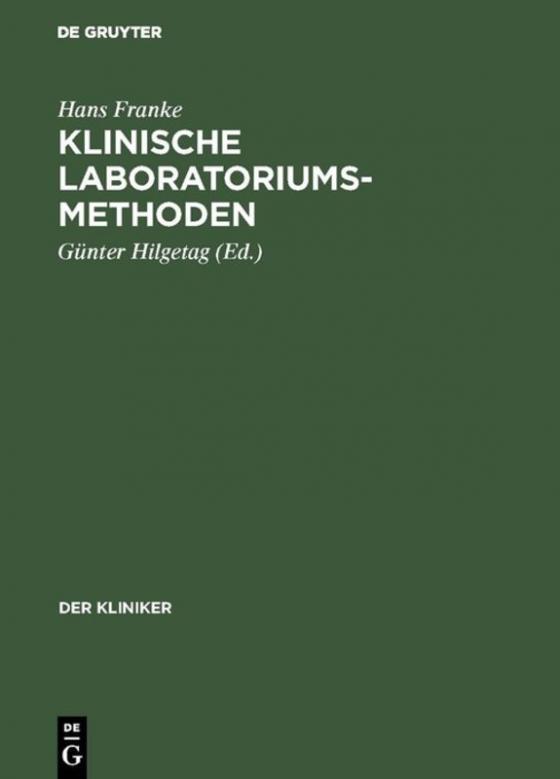 Cover-Bild Klinische Laboratoriumsmethoden