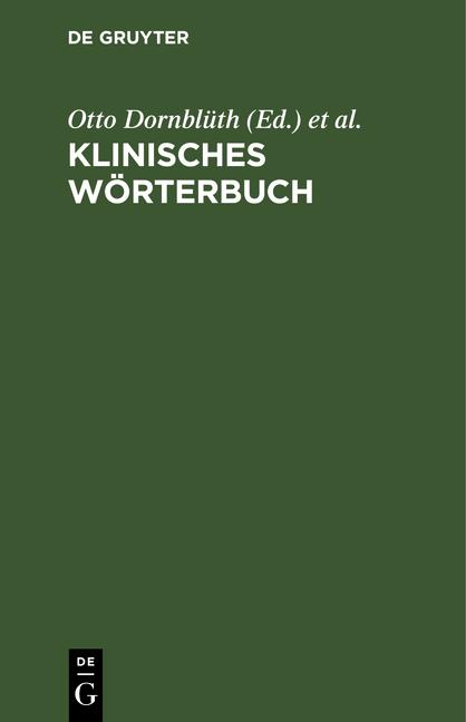 Cover-Bild Klinisches Wörterbuch
