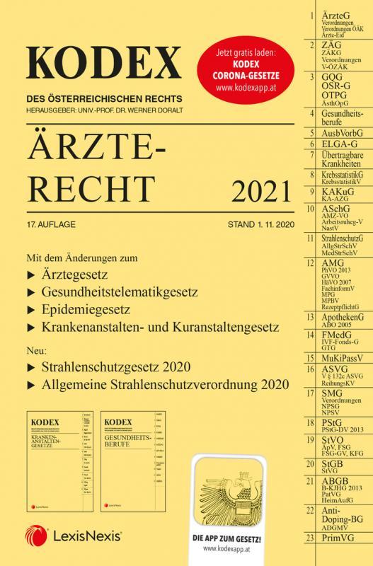 Cover-Bild KODEX Ärzterecht 2021
