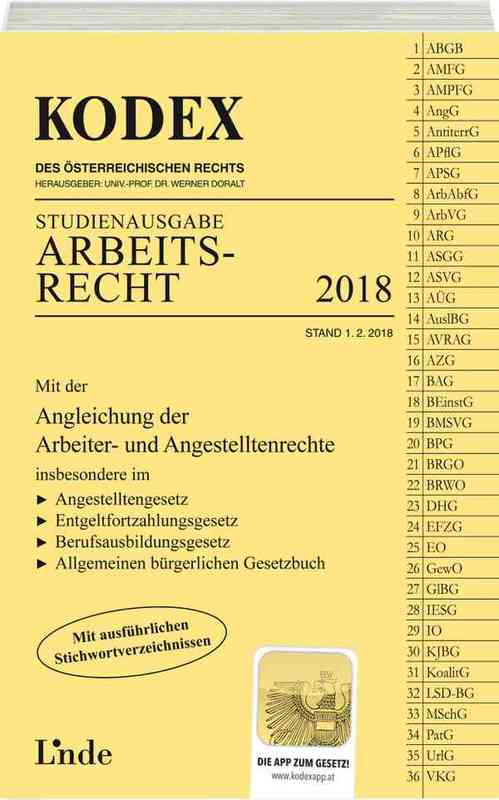 Cover-Bild KODEX Arbeitsrecht