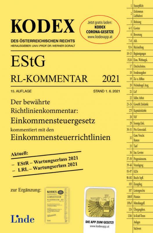 Cover-Bild KODEX EStG Richtlinien-Kommentar 2021