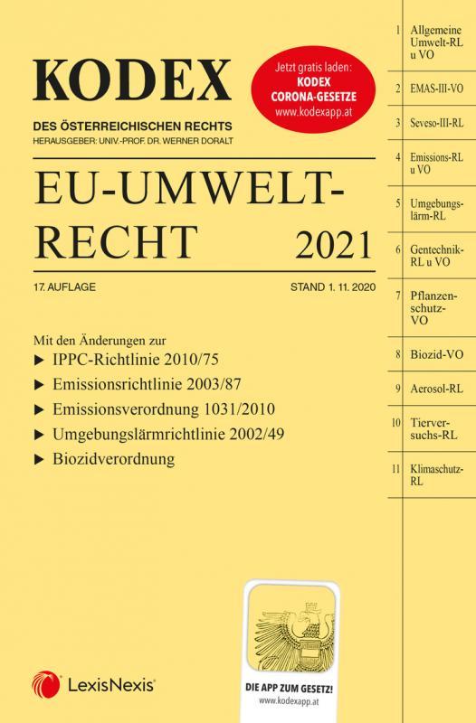 Cover-Bild KODEX EU-Umweltrecht 2021