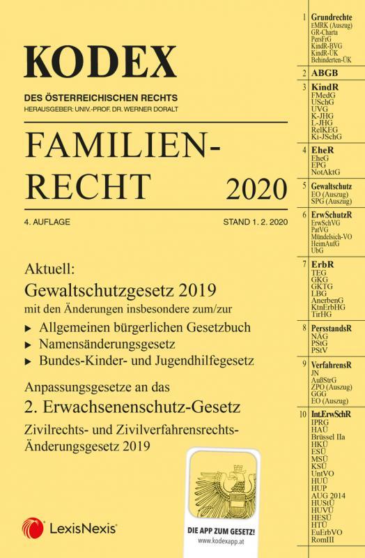 Cover-Bild KODEX Familienrecht 2020