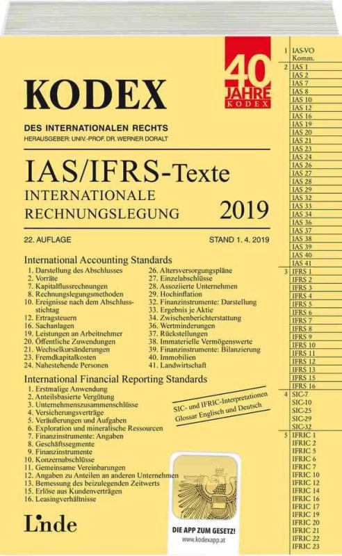 Cover-Bild KODEX Internationale Rechnungslegung IAS/IFRS - Texte 2019
