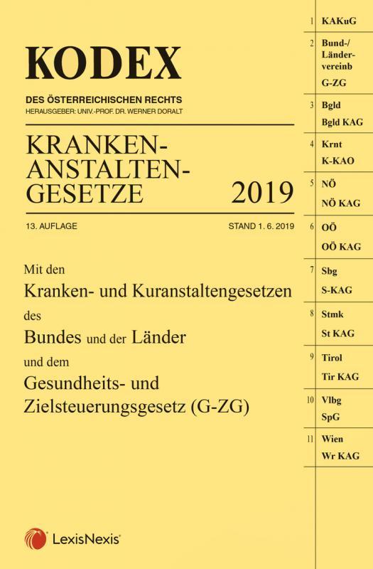 Cover-Bild KODEX Krankenanstaltengesetze 2019