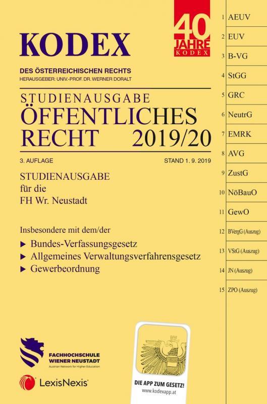 Cover-Bild KODEX Öffentliches Recht 2019/20