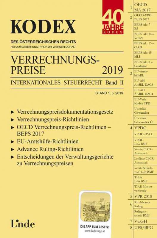 Cover-Bild KODEX Verrechnungspreise 2019