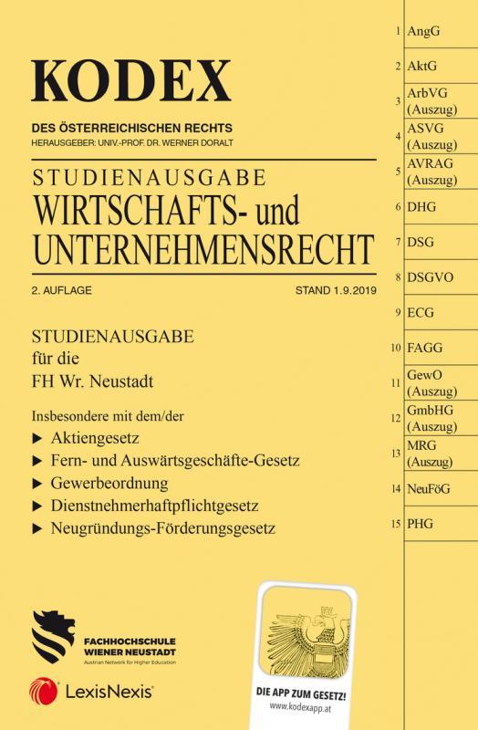 Cover-Bild KODEX Wirtschafts- und Unternehmensrecht 2019/20