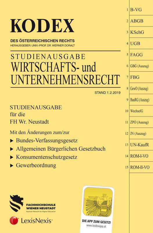 Cover-Bild KODEX Wirtschafts- und Unternehmensrecht
