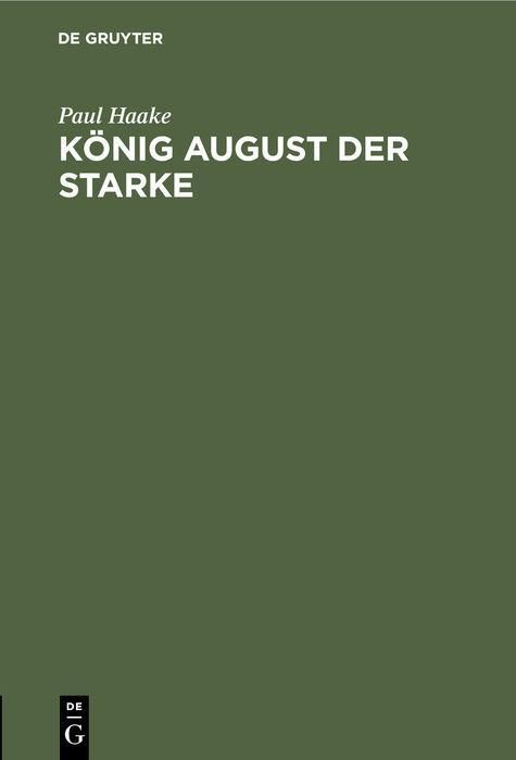 Cover-Bild König August der Starke