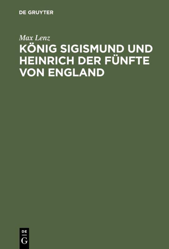 Cover-Bild König Sigismund und Heinrich der Fünfte von England