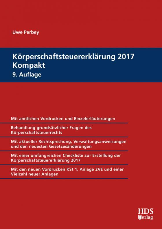 Cover-Bild Körperschaftsteuererklärung 2017 Kompakt