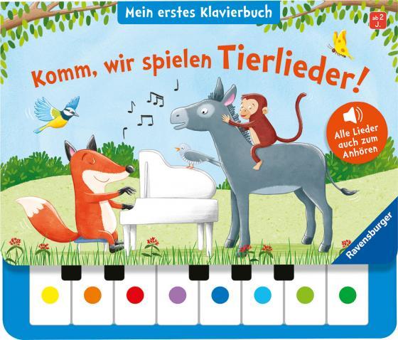 Cover-Bild Komm, wir spielen Tierlieder! Mein erstes Klavierbuch