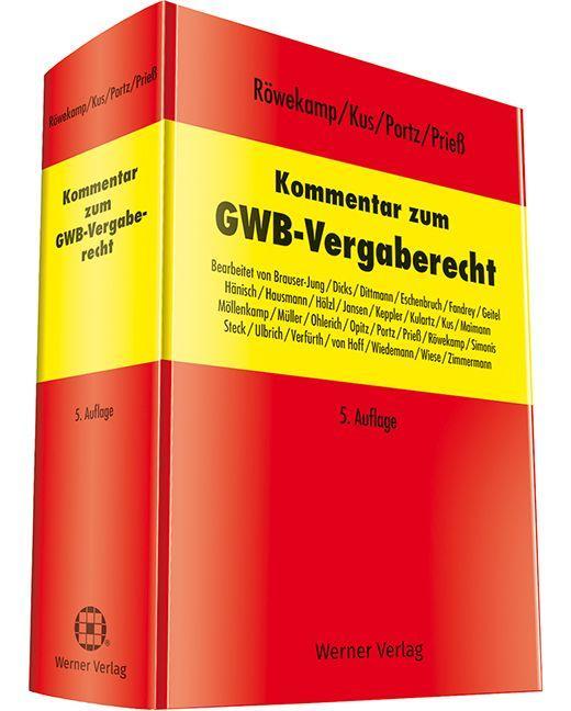 Cover-Bild Kommentar zum GWB - Vergaberecht