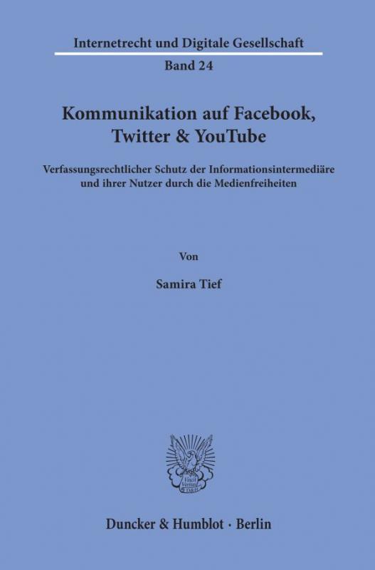 Cover-Bild Kommunikation auf Facebook, Twitter & YouTube.