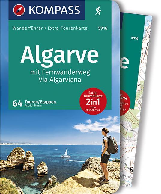 Cover-Bild KOMPASS Wanderführer Algarve mit Fernwanderweg Via Algarviana