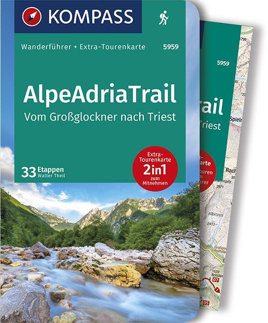 Cover-Bild KOMPASS Wanderführer AlpeAdriaTrail, Vom Großglockner nachTriest