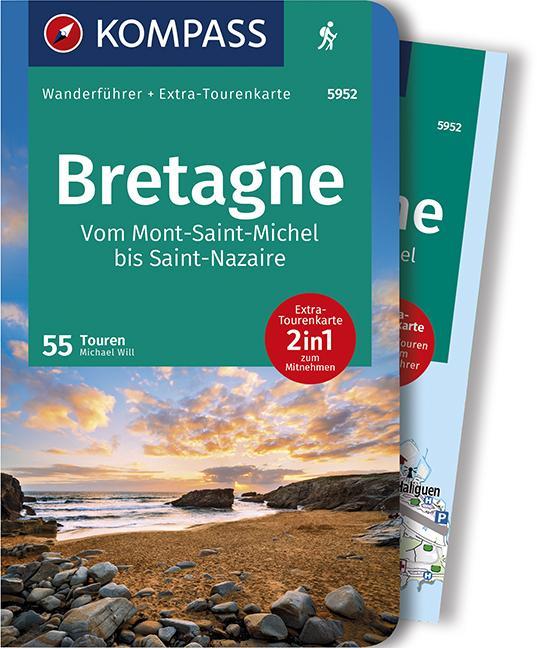 Cover-Bild KOMPASS Wanderführer Bretagne, vom Mont-Saint-Michel bis Saint-Nazaire
