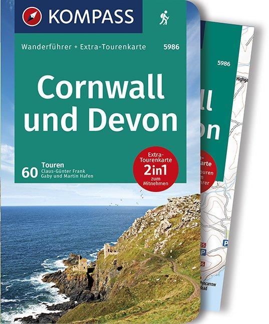 Cover-Bild KOMPASS Wanderführer Cornwall und Devon