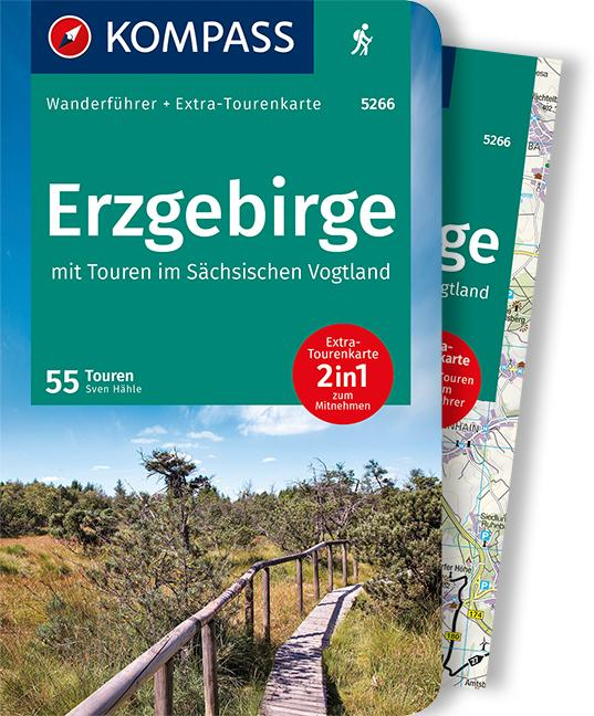 Cover-Bild KOMPASS Wanderführer Erzgebirge