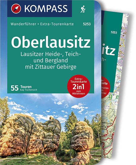 Cover-Bild KOMPASS Wanderführer Oberlausitz, Lausitzer Heide-, Teich- und Bergland, mit Zittauer Gebirge