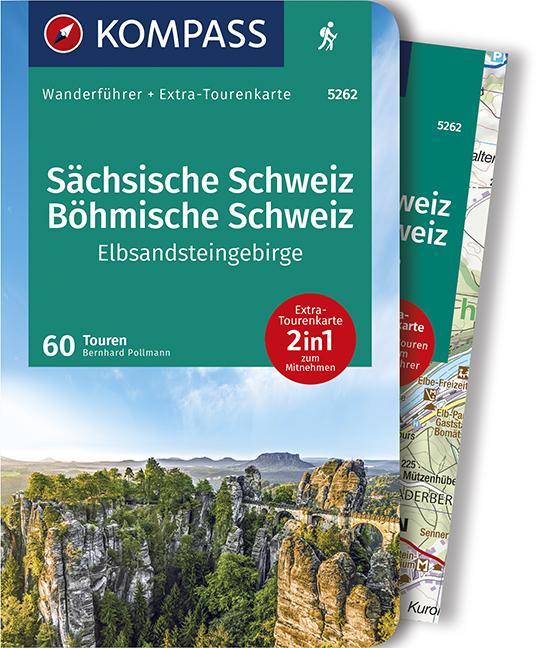 Cover-Bild KOMPASS Wanderführer Sächsische Schweiz, Böhmische Schweiz, Elbsandsteingebirge
