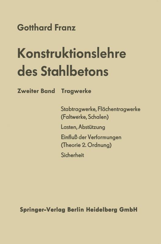 Cover-Bild Konstruktionslehre des Stahlbetons