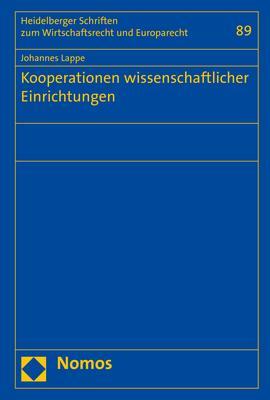 Cover-Bild Kooperationen wissenschaftlicher Einrichtungen
