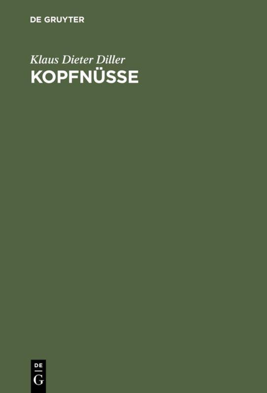 Cover-Bild Kopfnüsse