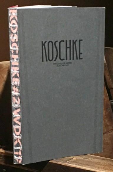 Cover-Bild Koschke #2: Die Publikation der WOCHE DER KRITIK / BERLIN CRITICS' WEEK 2019