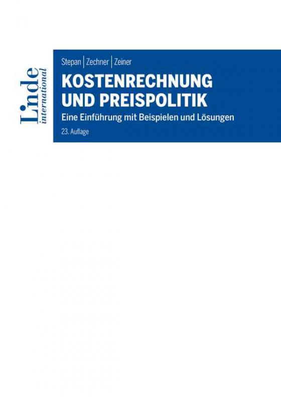 Cover-Bild Kostenrechnung und Preispolitik