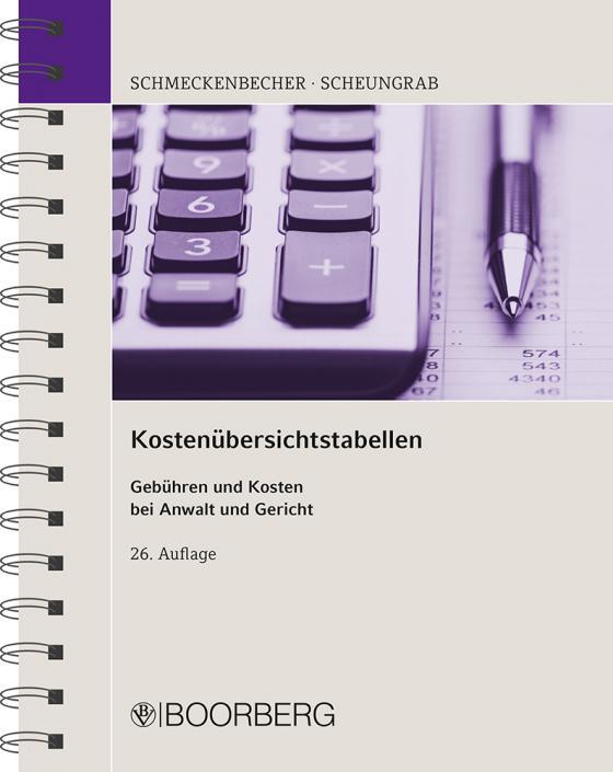 Cover-Bild Kostenübersichtstabellen