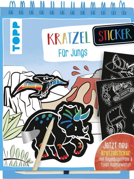 Cover-Bild Kratzel-Stickerbuch für Jungs