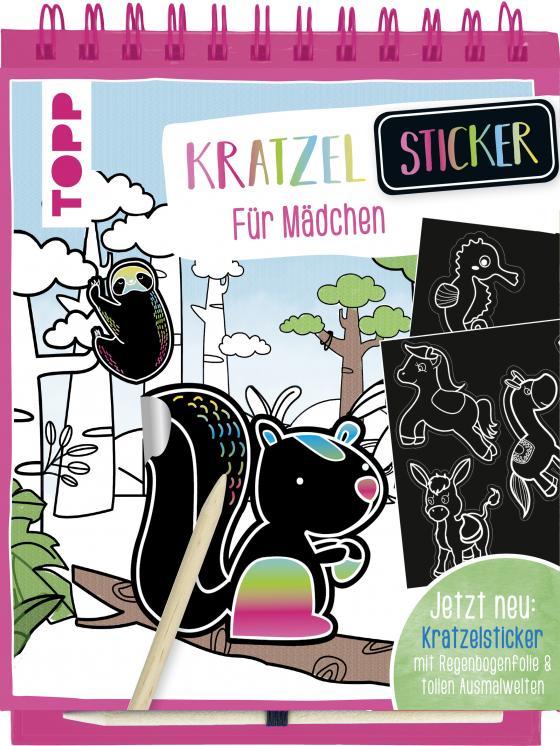 Cover-Bild Kratzel-Stickerbuch für Mädchen
