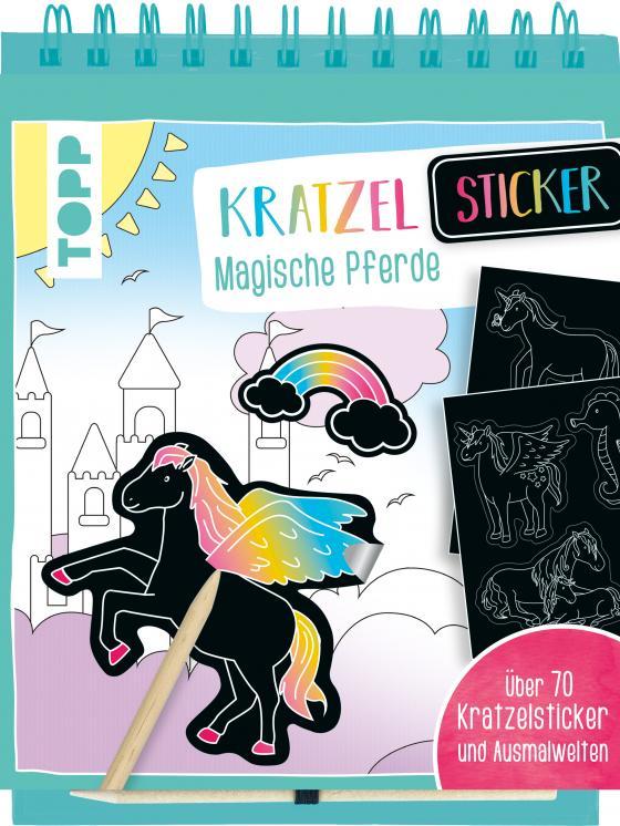 Cover-Bild Kratzel-Stickerbuch Magische Pferde