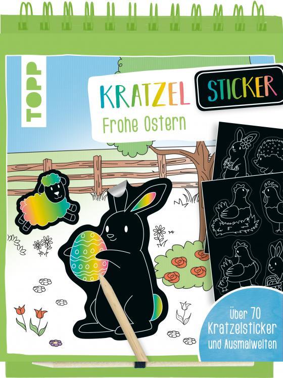 Cover-Bild Kratzel-Stickerbuch Ostern