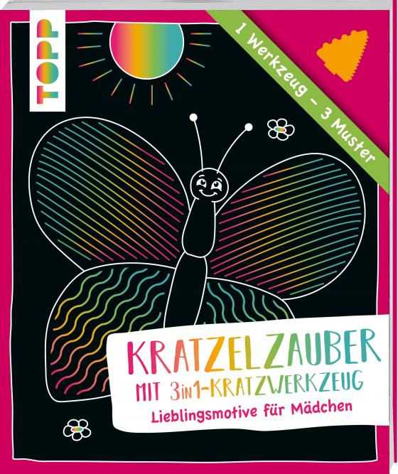 Cover-Bild Kratzelzauber mit Kratzwerkzeug Mädchen