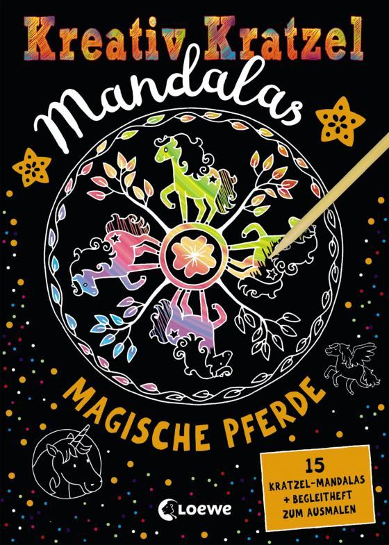 Cover-Bild Kreativ-Kratzel Mandalas: Magische Pferde