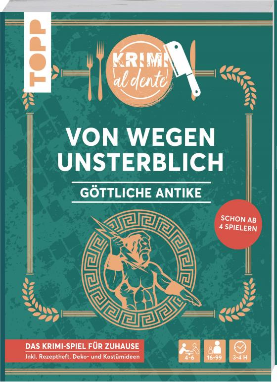 Cover-Bild Krimi al dente - Göttliche Antike - Von wegen unsterblich